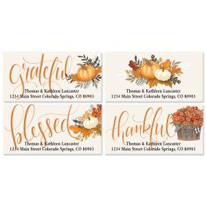 Gingham Pumpkin Deluxe Address Labels (4 Designs)
