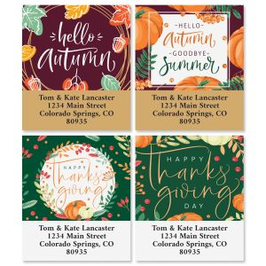 Autumn Calligraphy Select Address Labels (4 Designs)