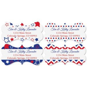 Patriotic Diecut Address Labels (4 Designs)
