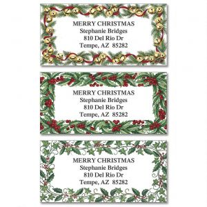 Evergreen Edges Border Address Labels  (3 designs)
