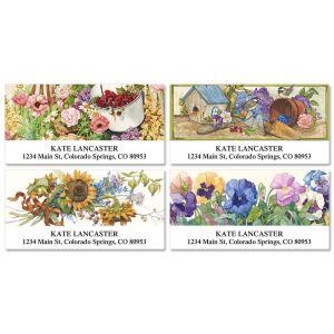 Sandi Gore Floral Deluxe Address Labels  (4 designs)