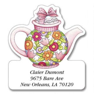 Teatime With Mary Diecut Address Label  (6 designs)