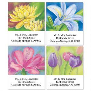 Floral Whispers  Select Address Labels  (4 designs)