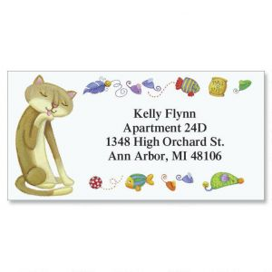 The Cat's Meow Border Address Labels  (6 Designs)
