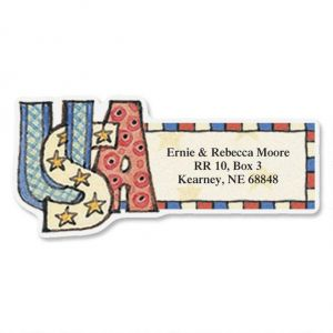 Everything Happy Diecut Address Labels  (12 Designs)