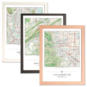 Personalized My Home Framed Matted Map Print