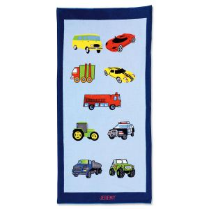 Cars Personalized Beach Towel