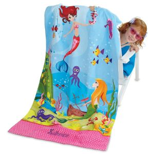 Personalized Mermaid Beach Towel