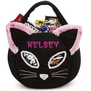 Black Cat Treat Basket
