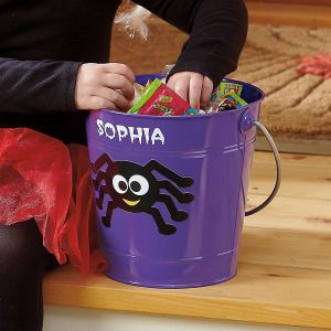 Personalized Spider Tin Bucket