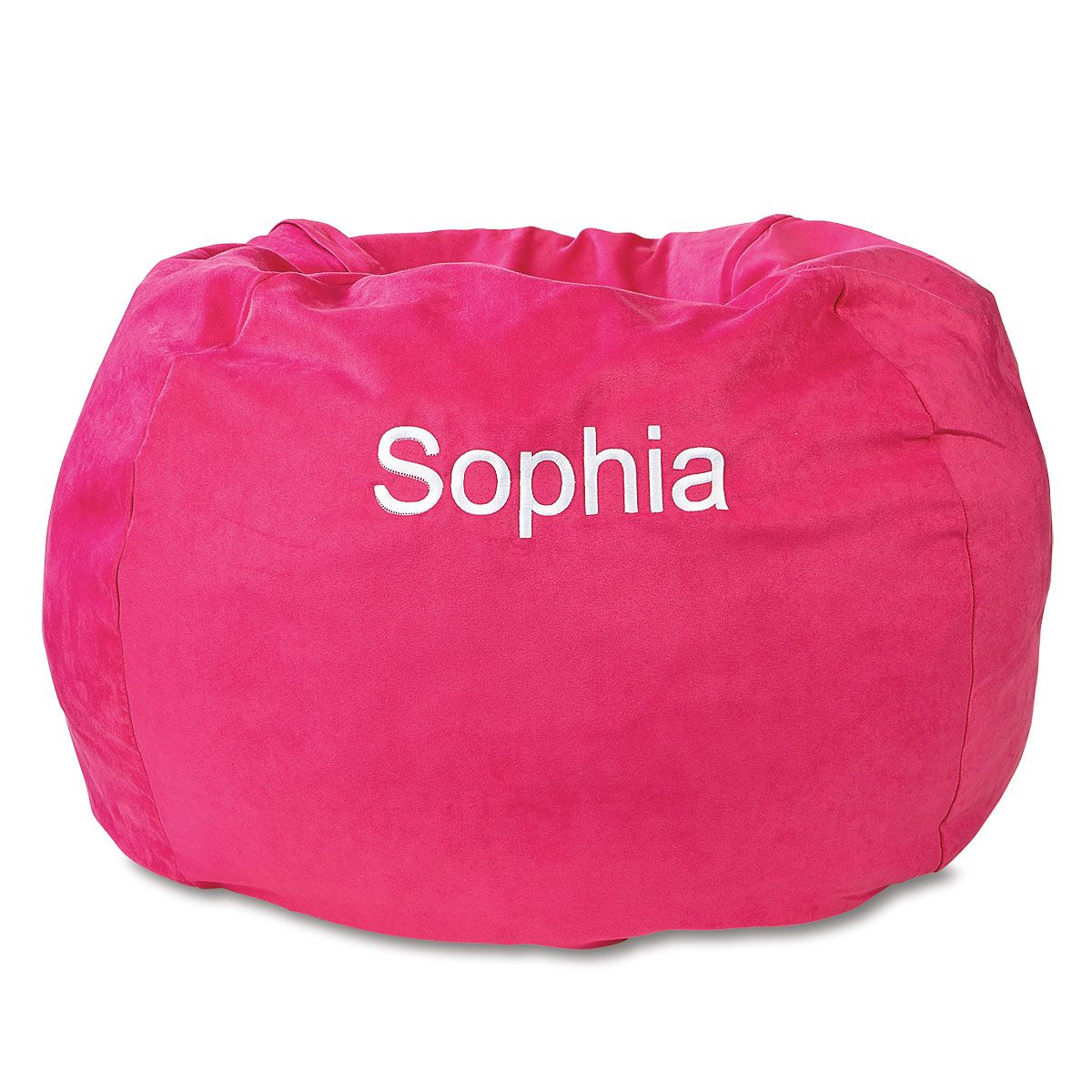Personalized Fuchsia Bean Bag Chair