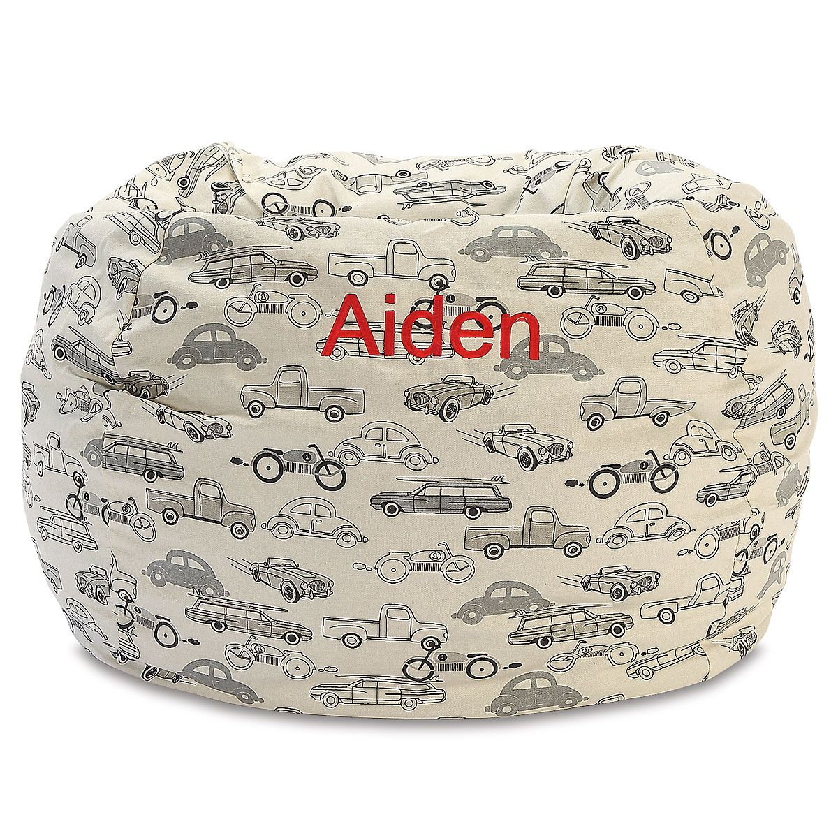 Retro Rides Personalized Bean Bag Chair