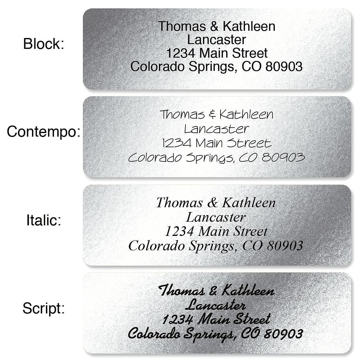Silver Foil Standard Rolled Address Labels
