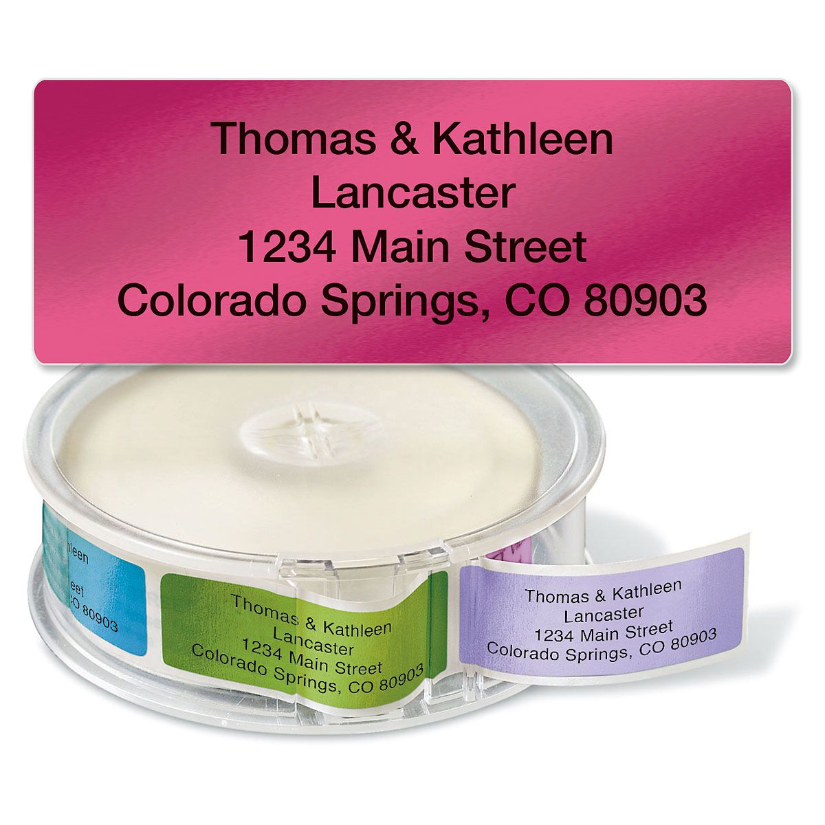 Metallic Rainbow  Rolled Address Label  (4 Colors)