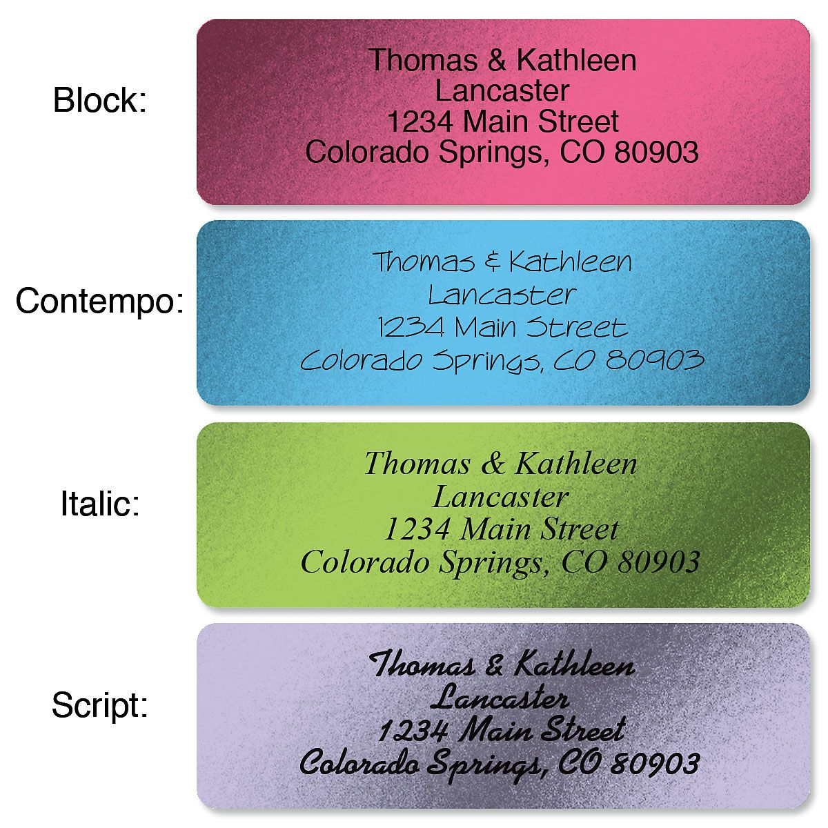 Metallic Rainbow with Initial Standard Rolled Address Labels