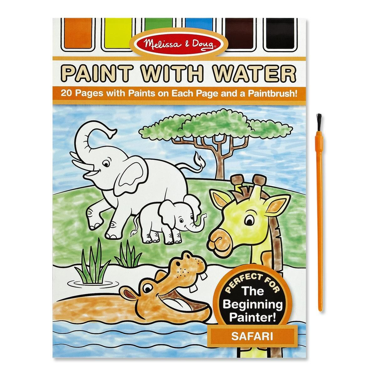 Safari Paint with Water Book  by Melissa & Doug®
