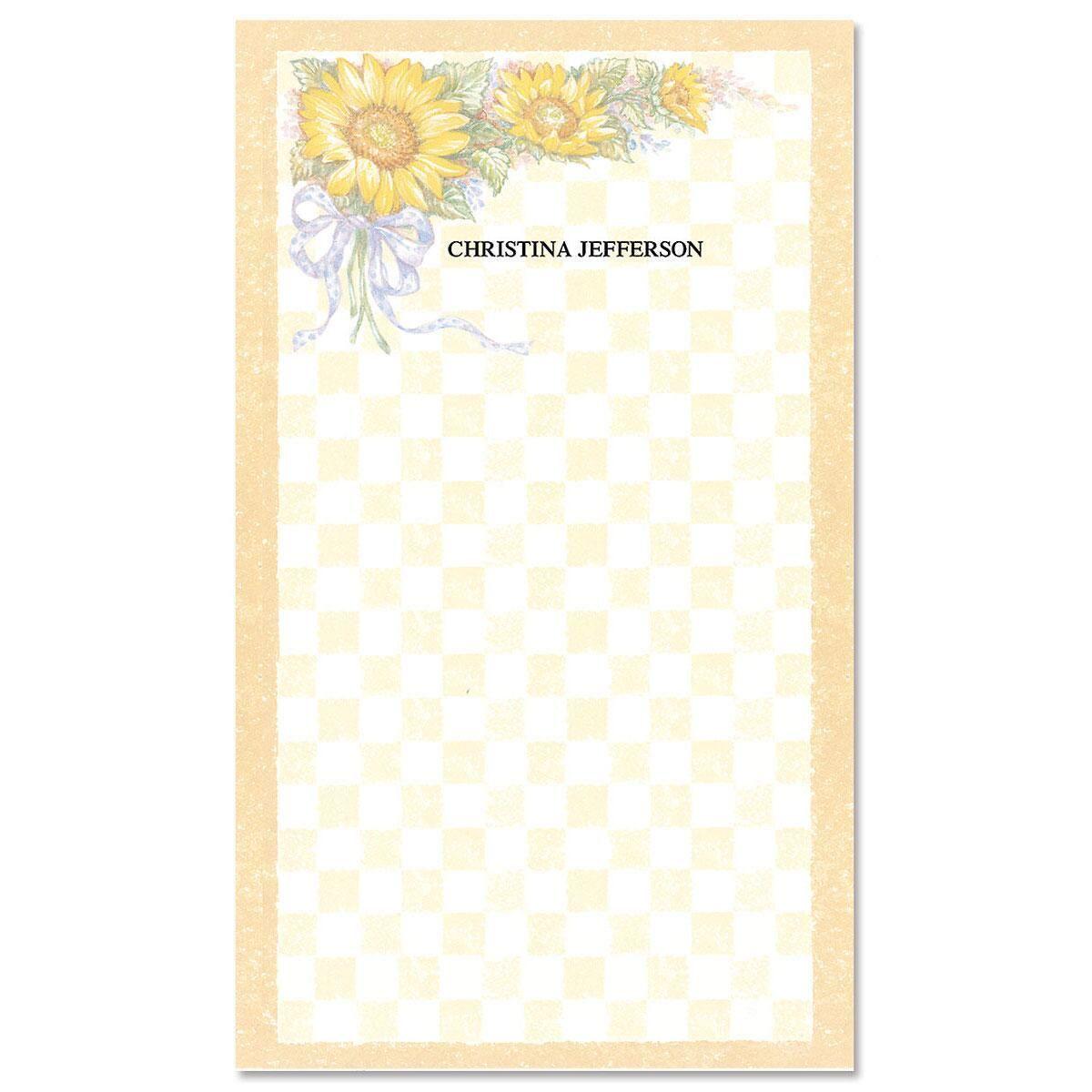 Sunflower Bouquet Custom Memo Pads