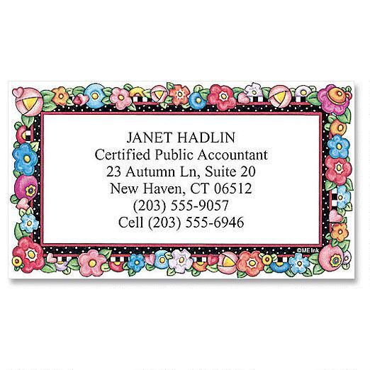Bright Blossoms Calling Card