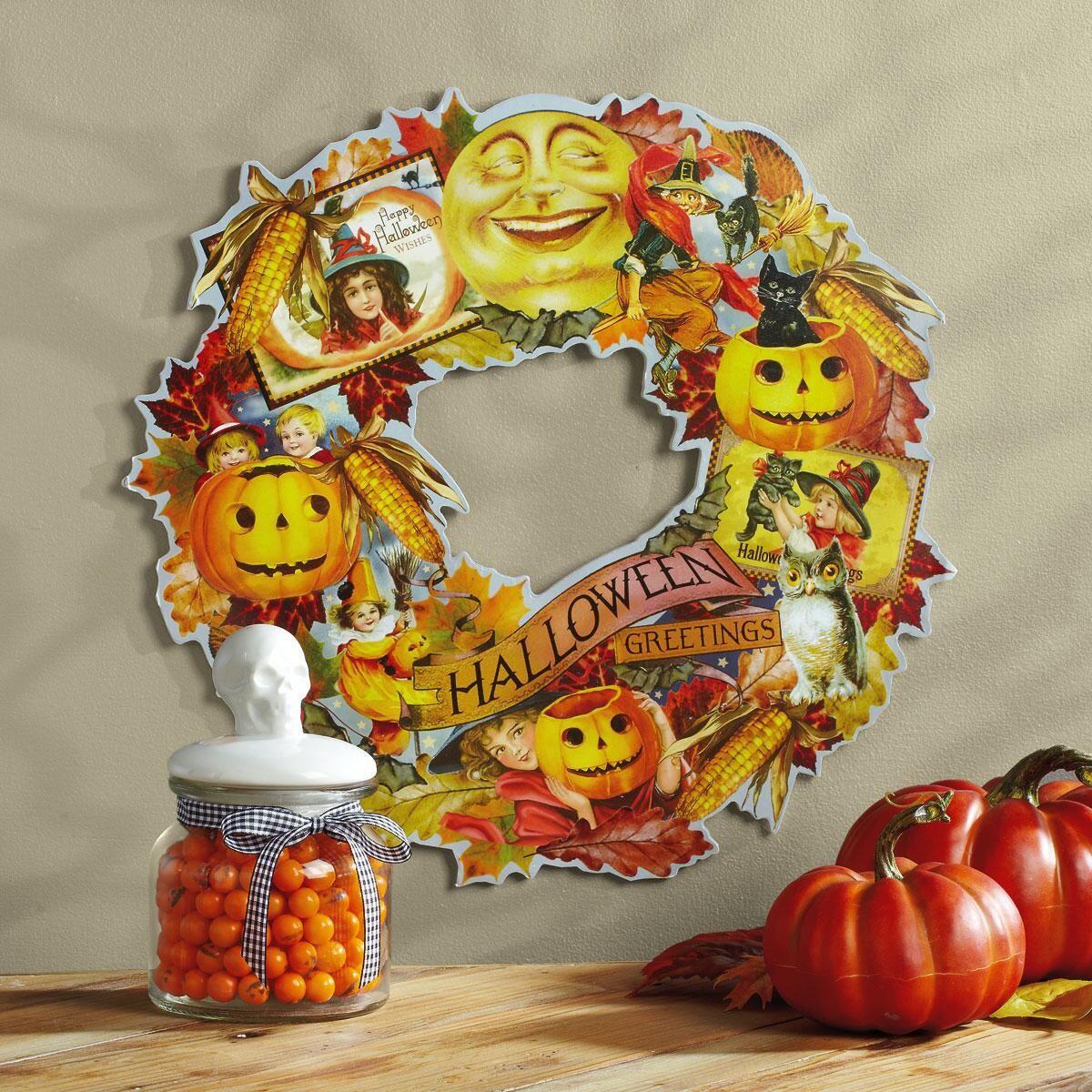 Vintage Die Cut Halloween Wreath