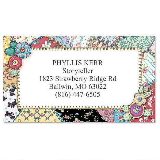Crazy Quilt Calling Card