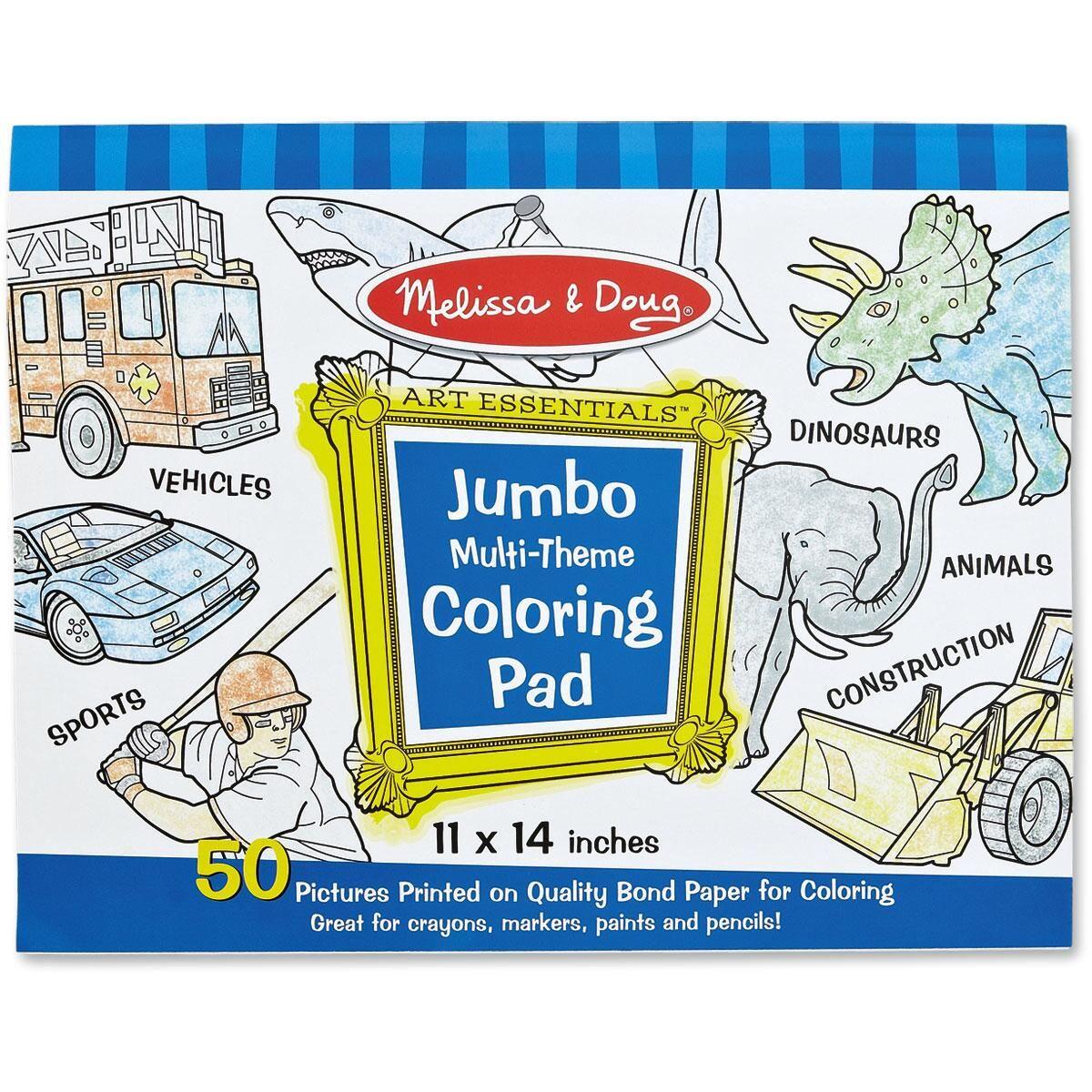 Blue Jumbo Coloring Pad by Melissa & Doug®
