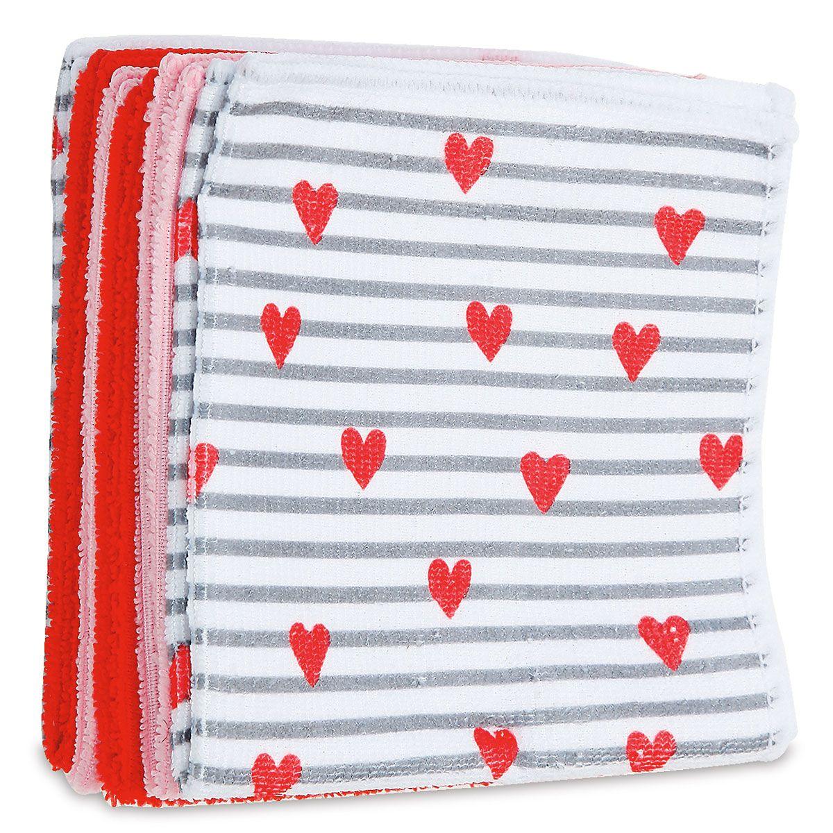 Microfiber Valentines Dishcloths
