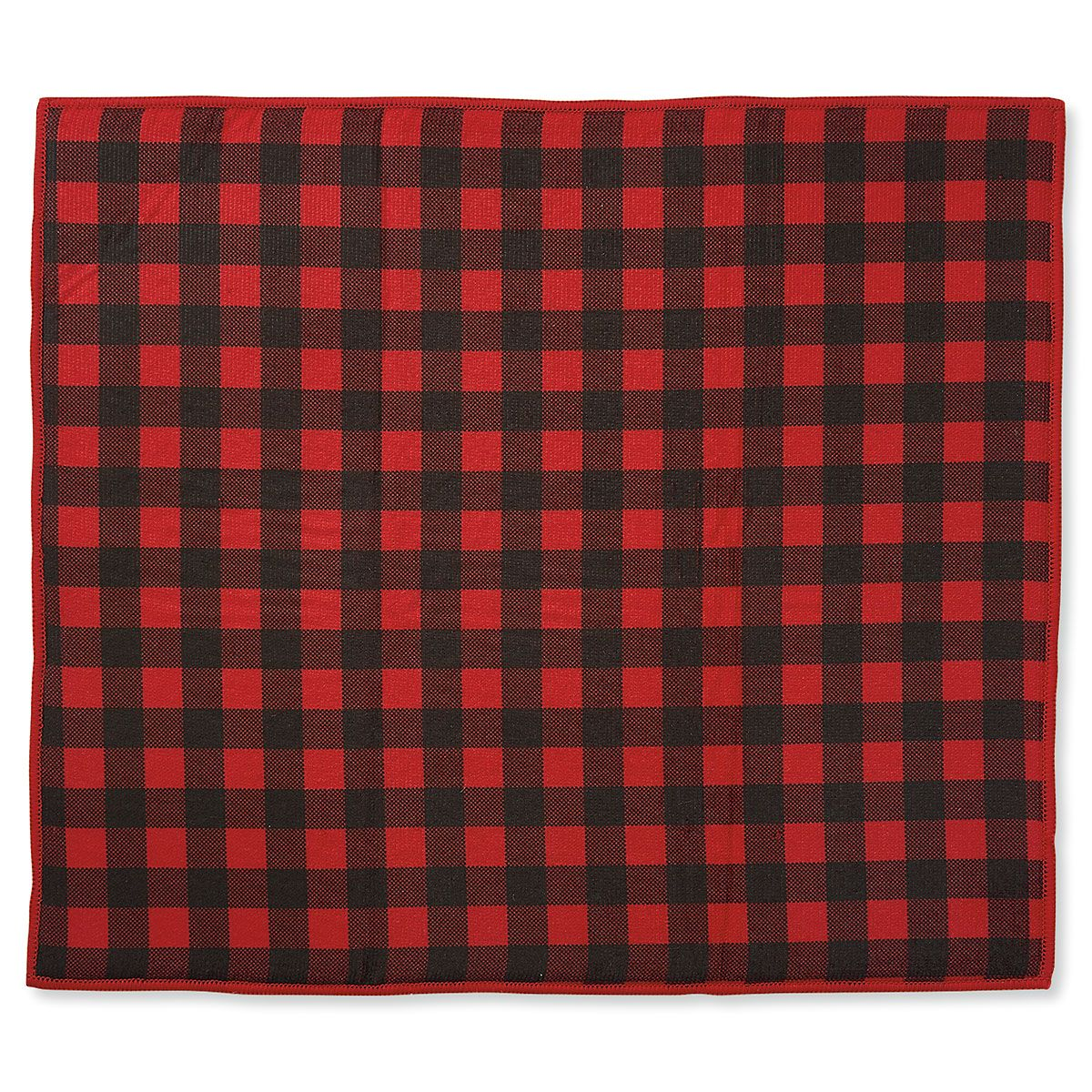 Buffalo Plaid Drying Mat/Dish Cloth Set