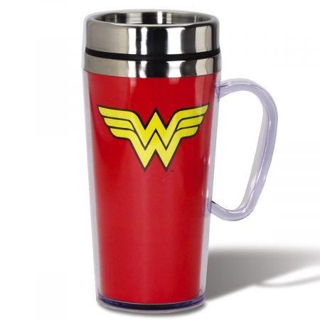 Superhero Logo Travel Mug - Wonder Woman