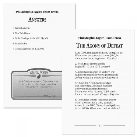 Philadelphia Eagles NFL Team Trivia Book