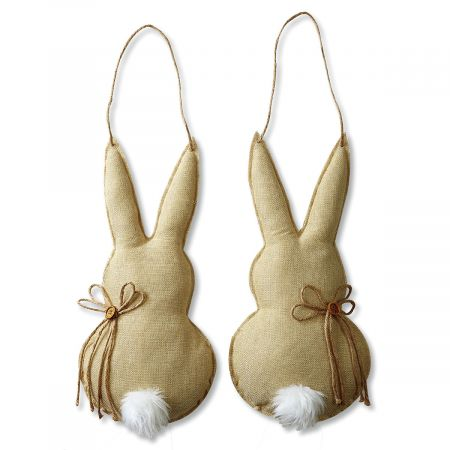 Hanging Burlap Bunny Decoration