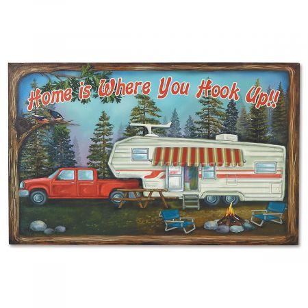 Home is Where You Hook Up Plaque