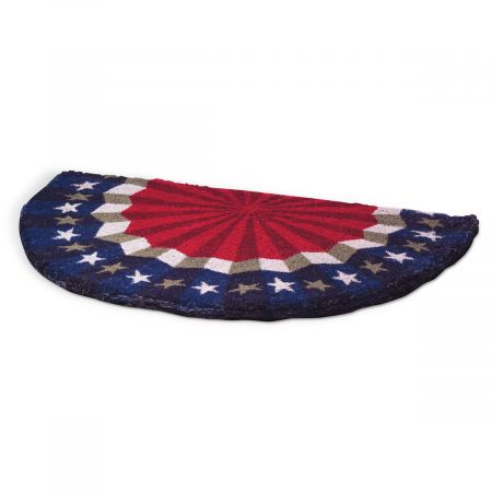 Stars stripes half round coco doormat rugs and mats Stars and stripes home decor