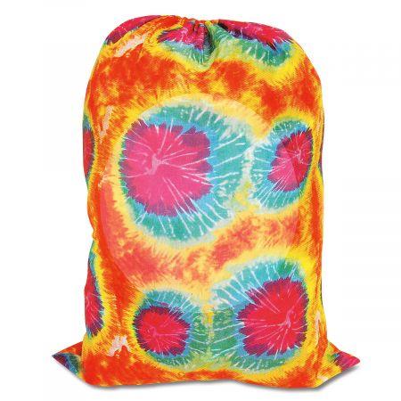 Tie-Dyed Orange Laundry Bag