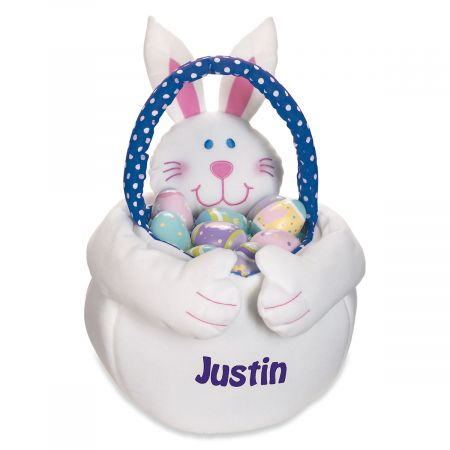 Kids Personalized Boy Easter Bunny Tote