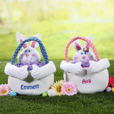 Personalized Easter Bunny Tote-Girl Bunny