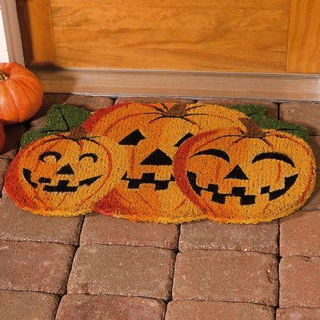 Jack-o'-Lantern Coco Doormat