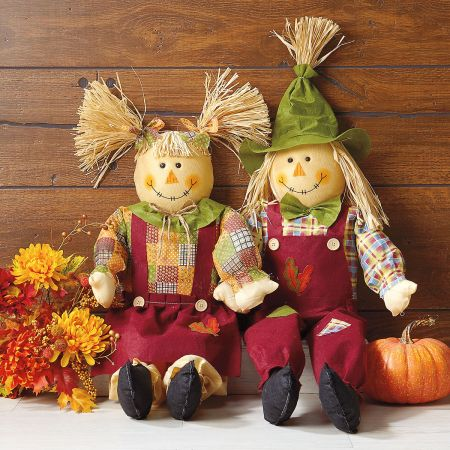 Sitting Scarecrows