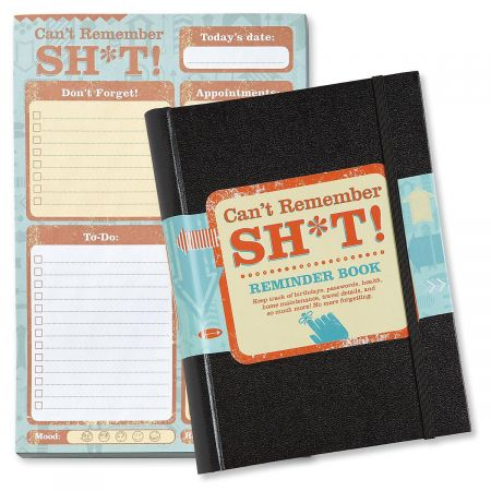 Can't Remember Reminder Book and Pads