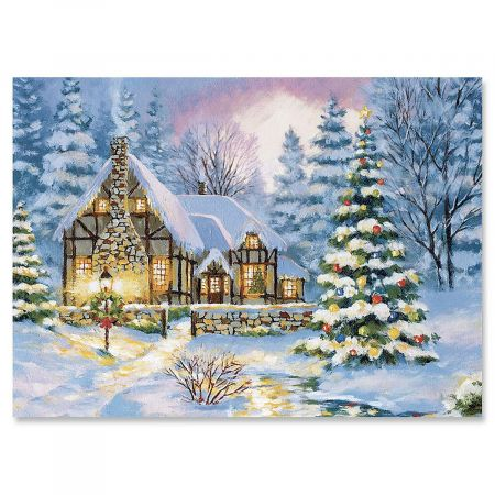 Winter Cottage Christmas Cards