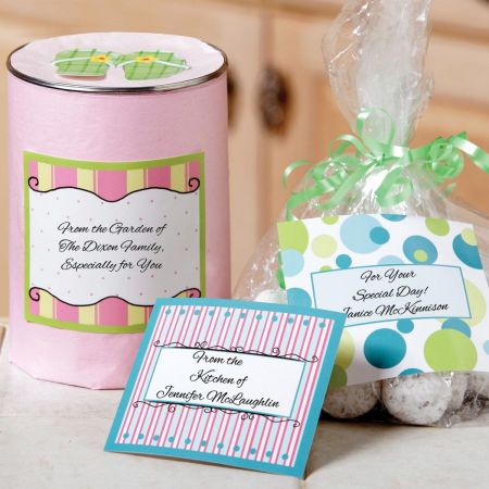 Large Designed Canning Jar Labels