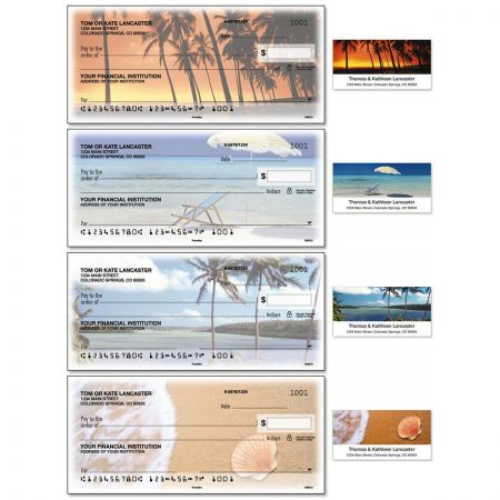 Paradise Single Checks with Matching Address Labels