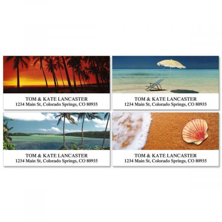 Paradise  Deluxe Address Labels  (4 designs)