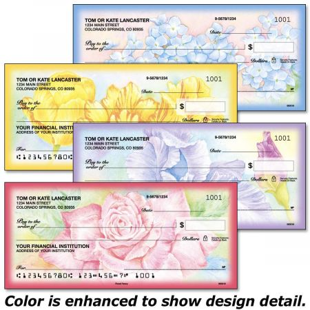 Floral Fancy Duplicate Checks