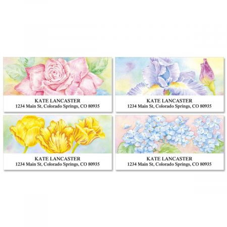 Floral Fancy  Deluxe Address Labels  (4 Designs)