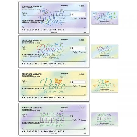 Expressions Of Faith® Duplicate Checks with Matching Address Labels