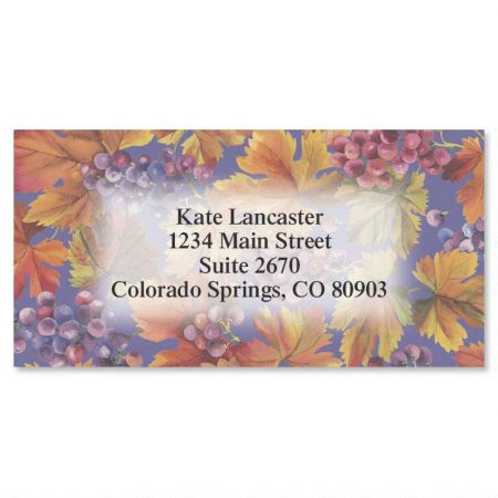 Vineyard  Border Address Labels