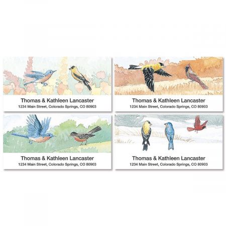 Wildbirds Deluxe Address Labels  (4 designs)