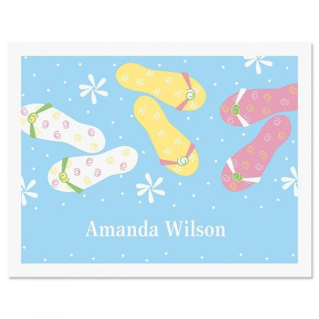 Flip-Floppin Personalized Note Cards