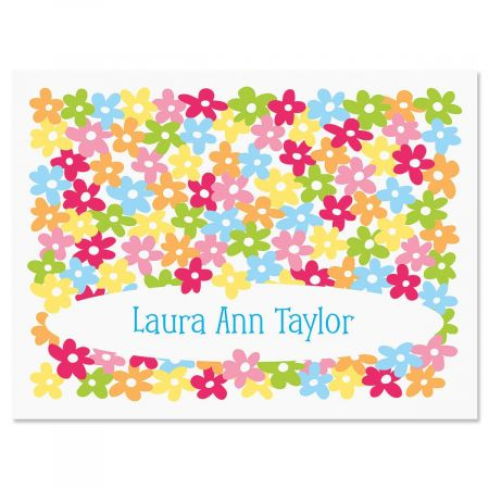 Mini Posies Personalized Note Cards