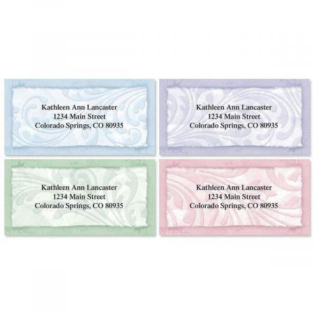 Scroll Border Address Labels  (4 designs)